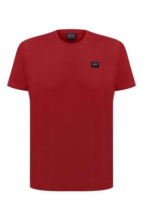 Мужская хлопковая футболка PAUL&SHARK бордового цвета, арт. C0P1002/C00 | Фото 1