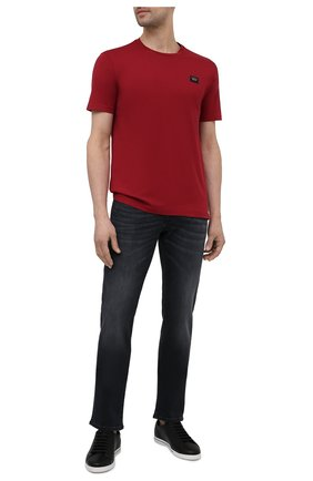 Мужская хлопковая футболка PAUL&SHARK бордового цвета, арт. C0P1002/C00 | Фото 2