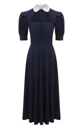 Женское хлопковое платье MASTERPEACE темно-синего цвета, арт. MP-R21-10   Фото 1