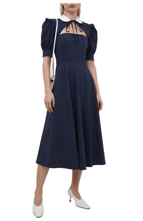 Женское хлопковое платье MASTERPEACE темно-синего цвета, арт. MP-R21-10   Фото 2
