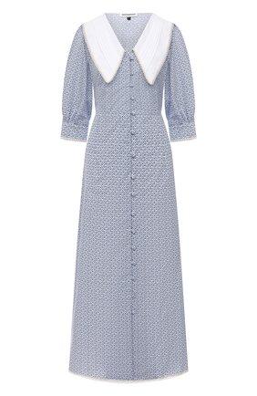 Женское хлопковое платье MASTERPEACE голубого цвета, арт. MP-SS20-09   Фото 1