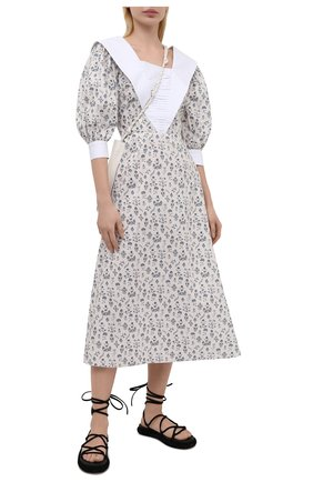 Женское хлопковое платье MASTERPEACE бежевого цвета, арт. MP-R21-21 | Фото 2