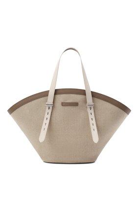 Женский сумка-тоут BRUNELLO CUCINELLI бежевого цвета, арт. MB98D2236 | Фото 1
