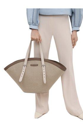 Женский сумка-тоут BRUNELLO CUCINELLI бежевого цвета, арт. MB98D2236 | Фото 2
