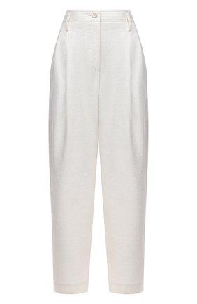 Женские шерстяные брюки GIORGIO ARMANI белого цвета, арт. 1SHPP0H1/T02F9 | Фото 1