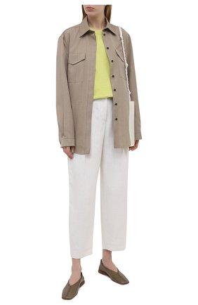 Женские шерстяные брюки GIORGIO ARMANI белого цвета, арт. 1SHPP0H1/T02F9 | Фото 2