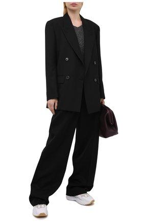 Женский кашемировый пуловер BRUNELLO CUCINELLI темно-серого цвета, арт. MAI198902 | Фото 2