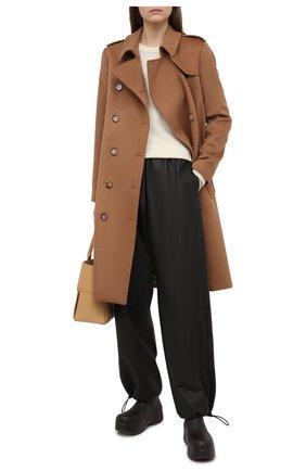 Женский кашемировый тренч BURBERRY коричневого цвета, арт. 8034424 | Фото 2