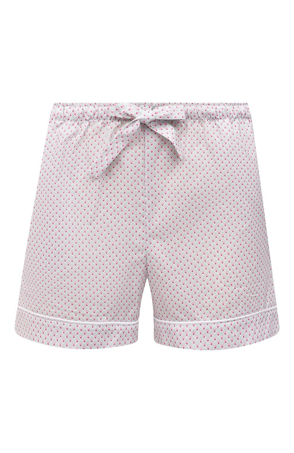 Женские хлопковые шорты DEREK ROSE светло-розового цвета, арт. 1253-LEDB040   Фото 1