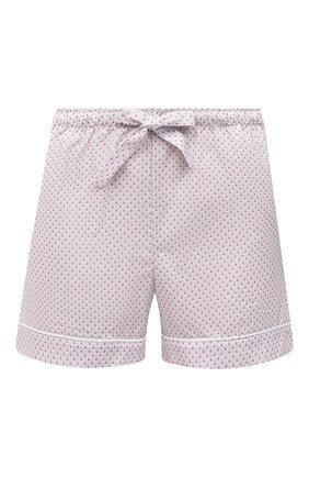 Женские хлопковые шорты DEREK ROSE светло-розового цвета, арт. 1253-LEDB040 | Фото 1