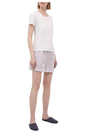 Женские хлопковые шорты DEREK ROSE светло-розового цвета, арт. 1253-LEDB040 | Фото 2