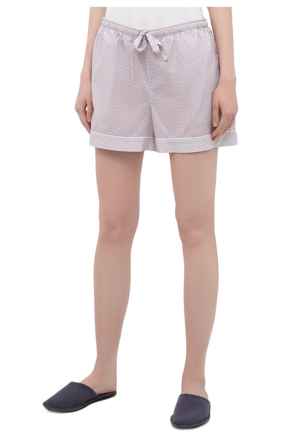 Женские хлопковые шорты DEREK ROSE светло-розового цвета, арт. 1253-LEDB040 | Фото 3