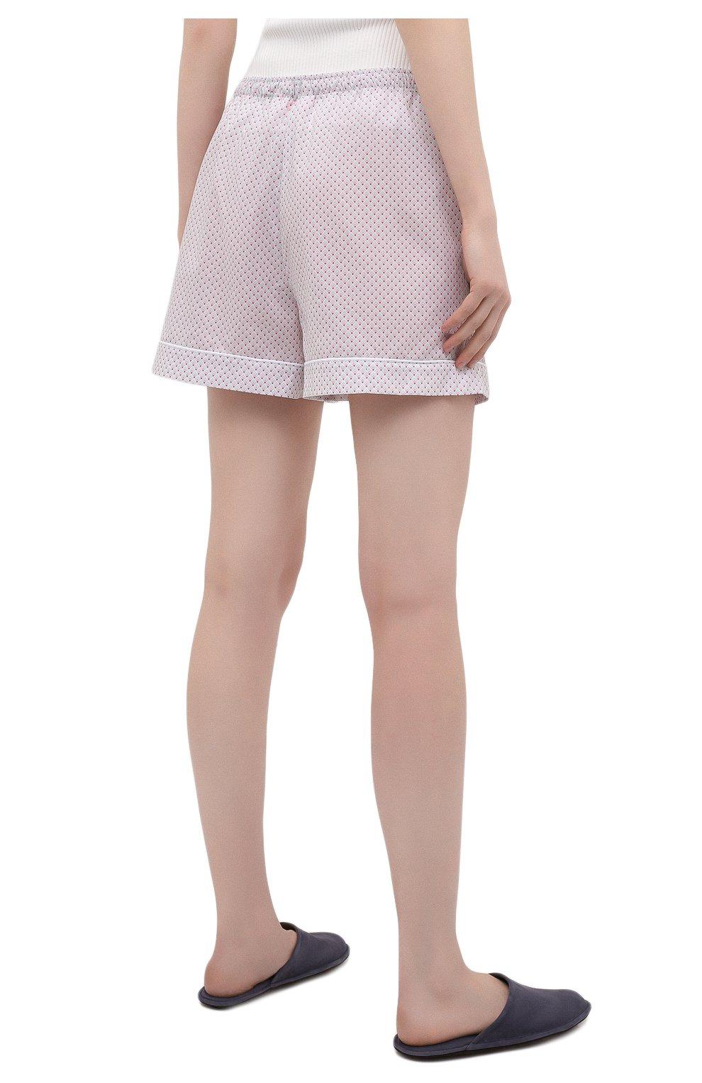 Женские хлопковые шорты DEREK ROSE светло-розового цвета, арт. 1253-LEDB040 | Фото 4