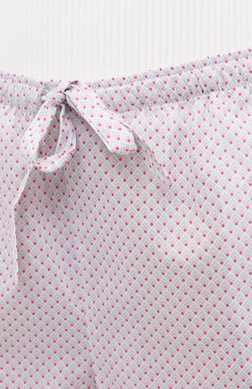 Женские хлопковые шорты DEREK ROSE светло-розового цвета, арт. 1253-LEDB040 | Фото 5