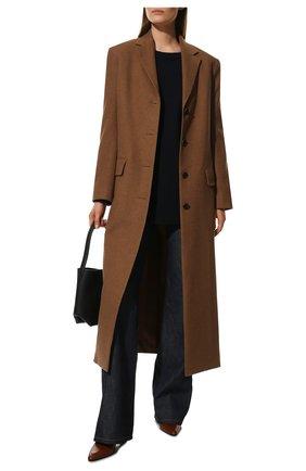 Женский свитер из шерсти и кашемира THE ROW темно-синего цвета, арт. 5582Y184 | Фото 2