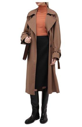 Женская шерстяная юбка FENDI черного цвета, арт. FQ7203 AC4G | Фото 2