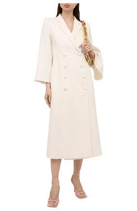 Женское шерстяное пальто FENDI белого цвета, арт. FF8806 AC4G | Фото 2