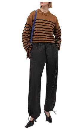 Женский хлопковый свитер PROENZA SCHOULER WHITE LABEL коричневого цвета, арт. WL2127605-KC085 | Фото 2