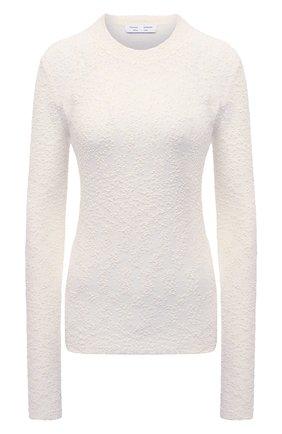 Женский хлопковый пуловер PROENZA SCHOULER WHITE LABEL белого цвета, арт. WL2127572-KC085 | Фото 1