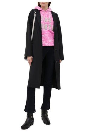 Женский хлопковое худи FORTE DEI MARMI COUTURE розового цвета, арт. 21SF9283 | Фото 2