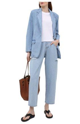 Женский джинсовый жакет FORTE DEI MARMI COUTURE голубого цвета, арт. 21SF9450 | Фото 2