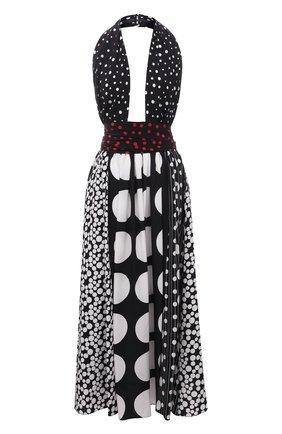 Женское шелковое платье DOLCE & GABBANA черно-белого цвета, арт. F6M0NT/GDY60 | Фото 1
