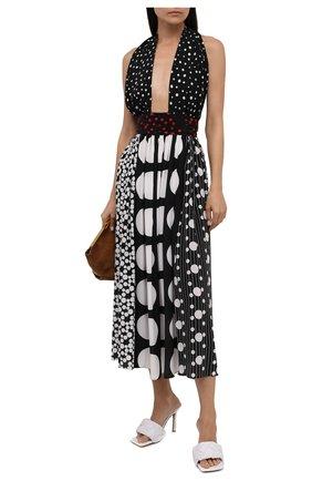 Женское шелковое платье DOLCE & GABBANA черно-белого цвета, арт. F6M0NT/GDY60 | Фото 2