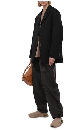 Женские текстильные кроссовки speed BALENCIAGA бежевого цвета, арт. 607543/W2DBL | Фото 2