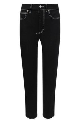 Женские джинсы ALEXANDER MCQUEEN черного цвета, арт. 658059/QMAAR | Фото 1 (Материал внешний: Хлопок; Длина (брюки, джинсы): Стандартные; Силуэт Ж (брюки и джинсы): Узкие; Кросс-КТ: Деним; Стили: Кэжуэл)