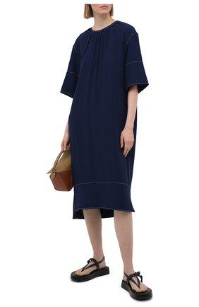 Женское платье из вискозы MARNI темно-синего цвета, арт. ABMA0441A0/TV285 | Фото 2
