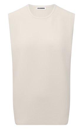 Женский топ из вискозы JIL SANDER светло-бежевого цвета, арт. JSWS754315-WSY39148 | Фото 1