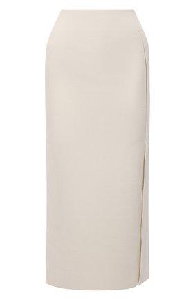 Женская юбка из вискозы JIL SANDER светло-бежевого цвета, арт. JSWS754316-WSY39148 | Фото 1