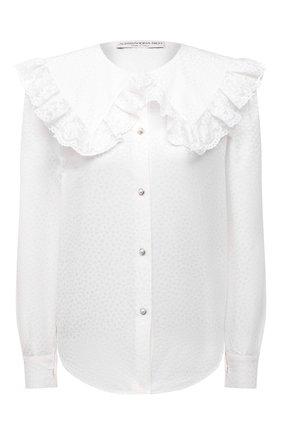 Женская хлопковая блузка ALESSANDRA RICH белого цвета, арт. FAB2475-F3204 | Фото 1