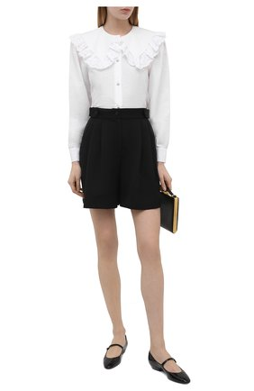 Женская хлопковая блузка ALESSANDRA RICH белого цвета, арт. FAB2475-F3204 | Фото 2