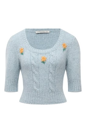 Женский шерстяной пуловер ALESSANDRA RICH голубого цвета, арт. FAB2461-K3212   Фото 1
