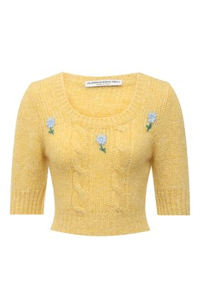 Женский шерстяной пуловер ALESSANDRA RICH желтого цвета, арт. FAB2461-K3212 | Фото 1