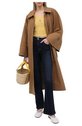 Женский шерстяной пуловер ALESSANDRA RICH желтого цвета, арт. FAB2461-K3212 | Фото 2