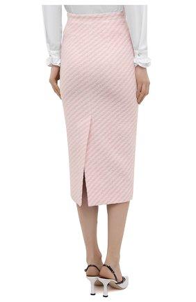 Женская хлопковая юбка ALESSANDRA RICH светло-розового цвета, арт. FAB1817-F3172   Фото 4