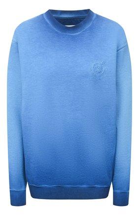 Женский хлопковый свитшот OPENING CEREMONY синего цвета, арт. YWBA007S21FLE002 | Фото 1