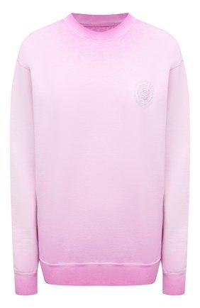 Женский хлопковый свитшот OPENING CEREMONY светло-розового цвета, арт. YWBA007S21FLE002   Фото 1