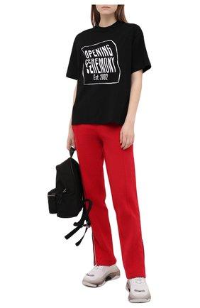 Женская хлопковая футболка OPENING CEREMONY черного цвета, арт. YWAA010S21JER001   Фото 2