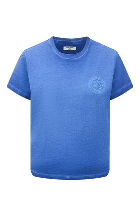 Женская хлопковая футболка OPENING CEREMONY синего цвета, арт. YWAA001S21JER002 | Фото 1
