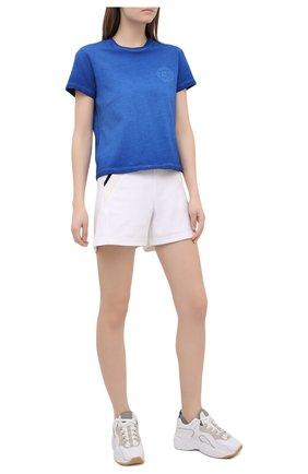 Женская хлопковая футболка OPENING CEREMONY синего цвета, арт. YWAA001S21JER002 | Фото 2
