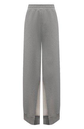 Женские хлопковые брюки MM6 серого цвета, арт. S52KA0249/S25337 | Фото 1