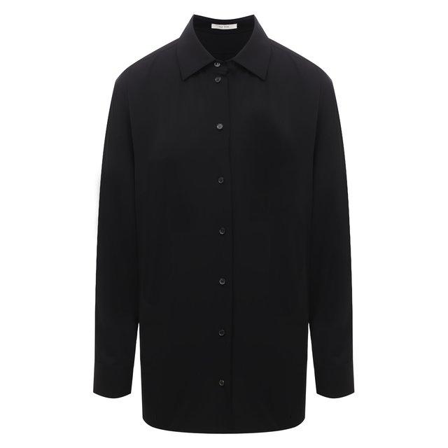 Рубашка из вискозы и шерсти The Row