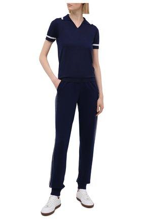 Женский кашемировый пуловер RALPH LAUREN темно-синего цвета, арт. 290840753   Фото 2
