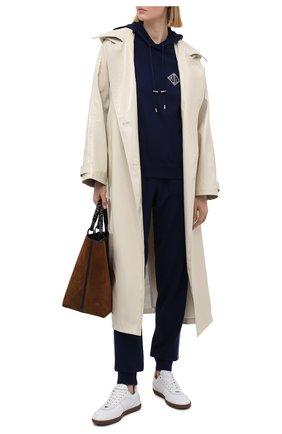 Женский кашемировое худи RALPH LAUREN темно-синего цвета, арт. 290840713 | Фото 2