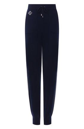 Женские кашемировые джоггеры RALPH LAUREN темно-синего цвета, арт. 290840669 | Фото 1