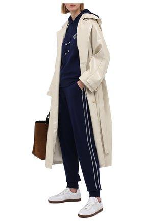 Женские кашемировые джоггеры RALPH LAUREN темно-синего цвета, арт. 290840669 | Фото 2