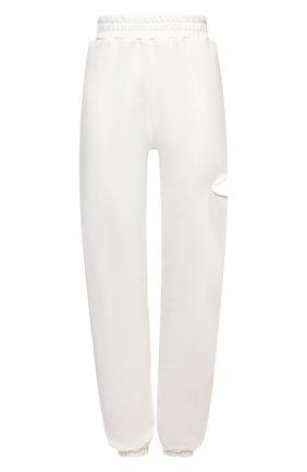 Женские хлопковые джоггеры FORTE DEI MARMI COUTURE белого цвета, арт. 21SF9080 | Фото 1